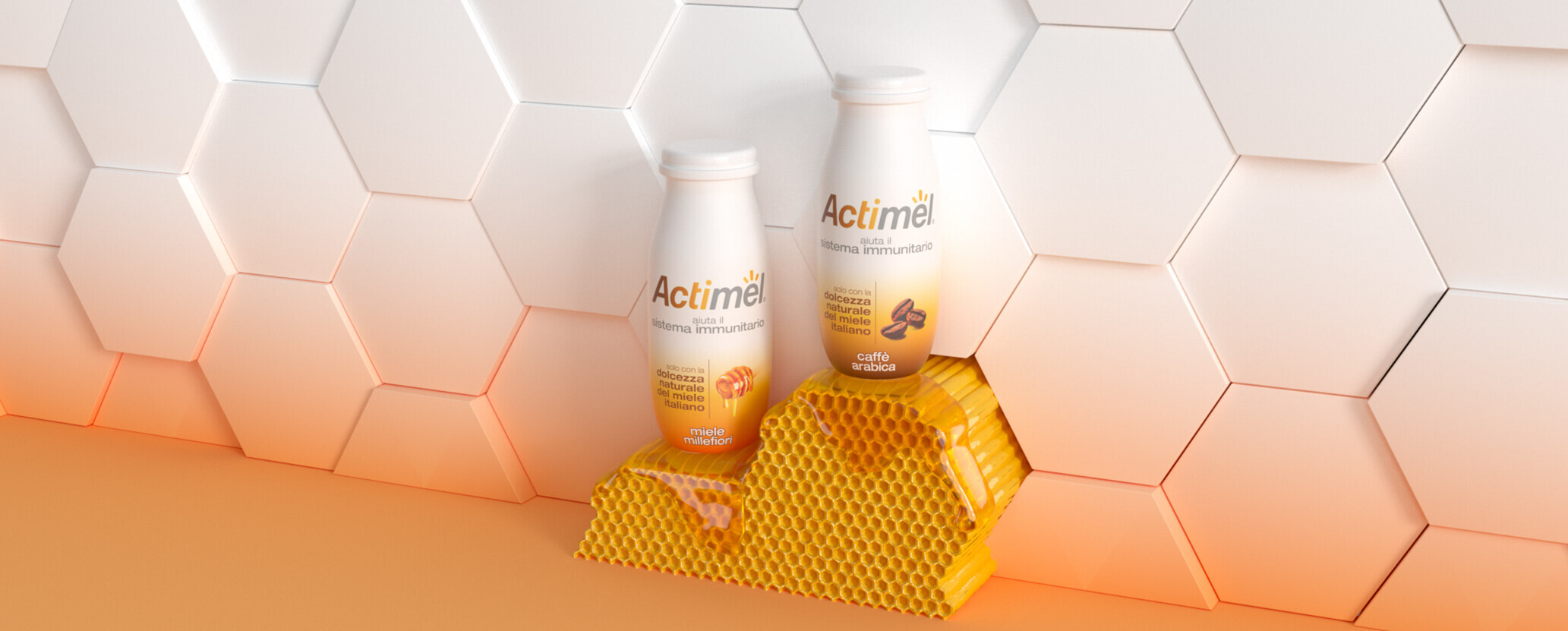 Actimel Miele Background