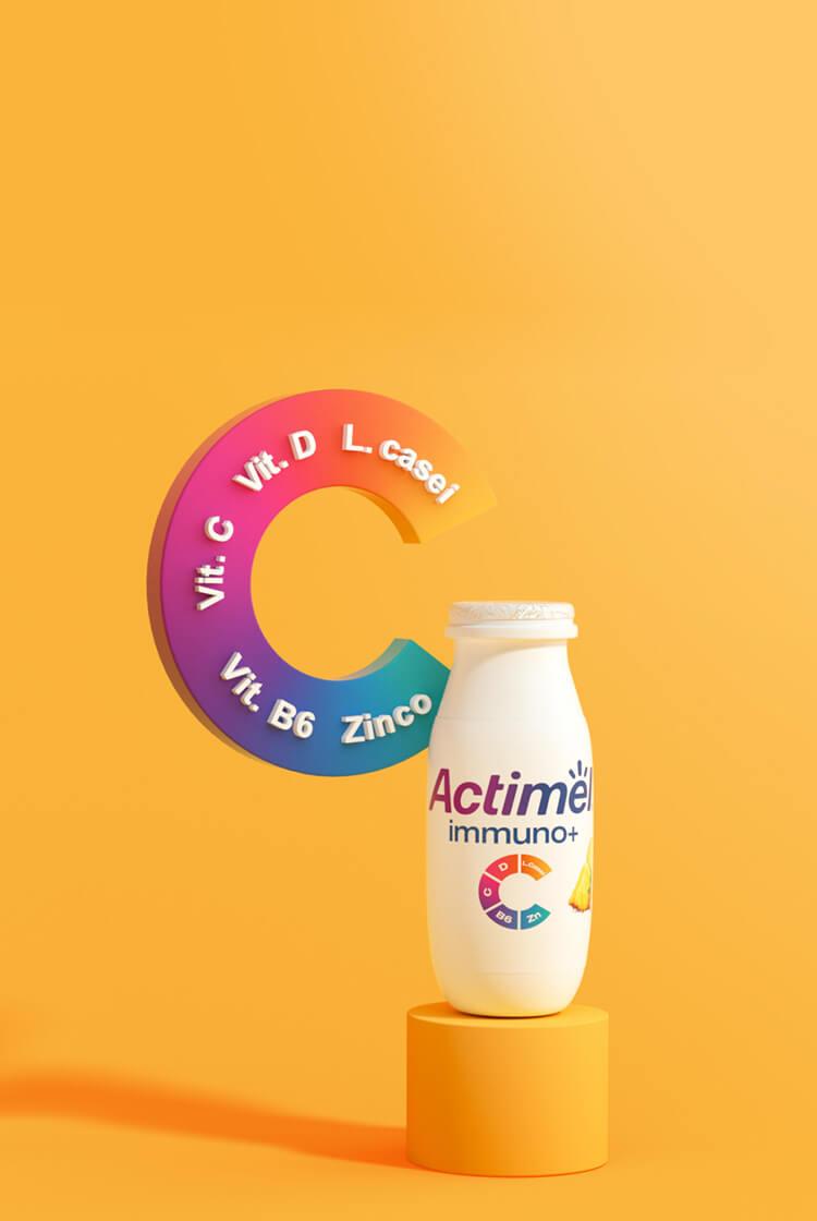 New Actimel Immuno+ Mobile Background